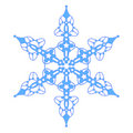 Blue Snowflake With Stars Stock Photography