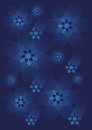Blue snowflakes background decorative with vector illustration Royalty Free Stock Image