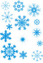 Blue snowflakes collection Royalty Free Stock Photo