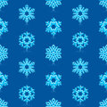 Blue snowflakes pattern glossy d modern deep Stock Photos