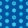 Blue snowflakes pattern glossy d modern deep Royalty Free Stock Images