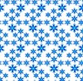 Blue snowflakes on white background Royalty Free Stock Images