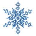 Blue Snowlfake Christmas Ornament Stock Image