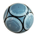 Blue Soccer Ball on White Stock Photo