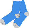 Blue socks Stock Image
