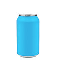 Blue soda can Royalty Free Stock Photo