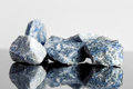 Blue sodalite, uncut, alternative medicine Royalty Free Stock Photo