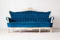 Blue Sofa bed Royalty Free Stock Image