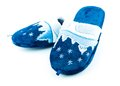 Blue soft slippers Royalty Free Stock Photo
