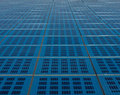 Blue solar panel collector view closeup Stock Photography