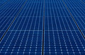 Blue Solar Panels Stock Photo