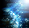 Blue space shine template Royalty Free Stock Photography