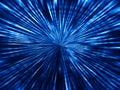 Blue space teleport blast illustration background Royalty Free Stock Photo