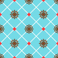 Blue spanish ornamental ceramic tile