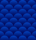 Blue Spheres Seamless Pattern Stock Images