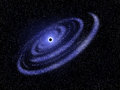 Blue spiral galaxy and black hole background Stock Photos
