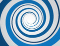 Blue spiral gray background Royalty Free Stock Images