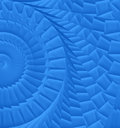 Blue spiral texture painted abstract Stock Images