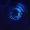Blue Spiral Vortex Royalty Free Stock Photo