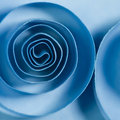 Blue spirals on background Stock Images
