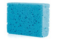 Blue sponge Stock Photo