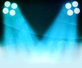 Blue Spotlight Background Royalty Free Stock Photography