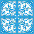 Blue square abstract decoration Stock Image