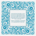 Blue square frame Royalty Free Stock Photo
