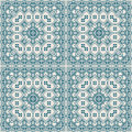 Blue square pattern Royalty Free Stock Photo