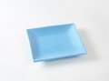 Blue square plate Royalty Free Stock Photo