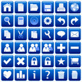 Blue Square Web Buttons [1] Royalty Free Stock Photo