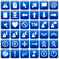 Blue Square Web Buttons [2] Royalty Free Stock Photo