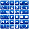 Blue Square Web Buttons [3] Royalty Free Stock Photo