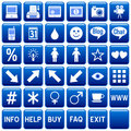 Blue Square Web Buttons [4] Royalty Free Stock Photo