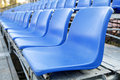 Blue stadium chair or blue chair Stock Images