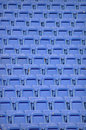 Blue Stadium Chairs - Repeating Texture Royalty Free Stock Photography