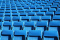 Blue stadium seats Stock Image
