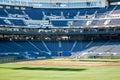 Blue Stadium Seats Royalty Free Stock Photo