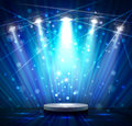 Blue stage spotlight effect scene background Stock Image