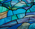 Blue stain glass wonderful colors in this glasswork Stock Images
