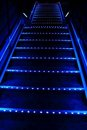 Blue stairway Royalty Free Stock Images
