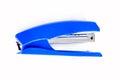 Blue stapler d isolated on white background Stock Photos