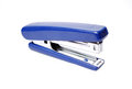 The blue stapler, it is isolated Royalty Free Stock Photo