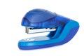 Blue stapler isolated on white Stock Photo