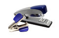 Blue stapler and Staple Remover Royalty Free Stock Photo