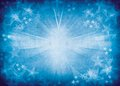 Blue star burst background. Royalty Free Stock Photo