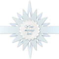 Blue star label. Greeting card for kid bithday or party Royalty Free Stock Images