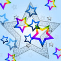 Blue Stars Background Means Heavenly Body And Shining
