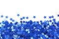 Blue stars confetti Royalty Free Stock Photos