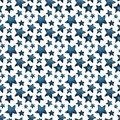 Cute big and small blue stars, salute of stars. pattern
